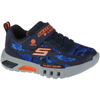 Schoenen Jongens Lage sneakers Skechers Flex-Glow Rondler Bleu marine