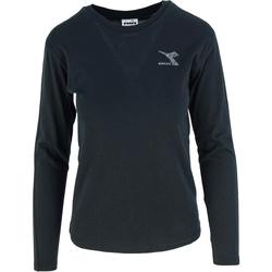 Textiel Dames T-shirts met lange mouwen Diadora Ls Blink Zwart