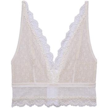 Ondergoed Dames Bralettes/zonder beugel Underprotection SS2040 WHE Beige
