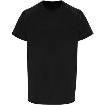 Textiel Heren T-shirts korte mouwen Tridri TR014 Zwart
