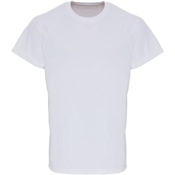 Textiel Heren T-shirts korte mouwen Tridri TR014 Wit