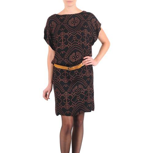 Textiel Dames Korte jurken Antik Batik QUINN Zwart