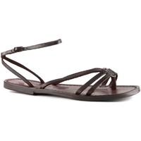 Schoenen Dames Sandalen / Open schoenen Gianluca - L'artigiano Del Cuoio 535 D MORO CUOIO Testa di Moro