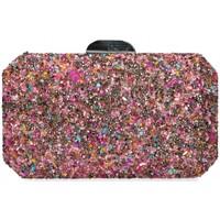 Tassen Dames Handtassen kort hengsel Luna Collection 60525 roze