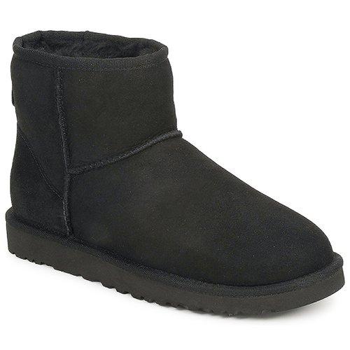 Schoenen Dames Laarzen UGG CLASSIC MINI Zwart