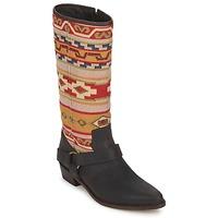 Schoenen Dames Hoge laarzen Sancho Boots CROSTA TIBUR GAVA Bruin - rood