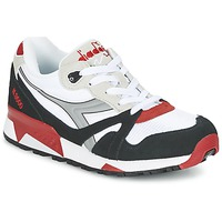 Schoenen Lage sneakers Diadora N9000  NYL Wit / Zwart / Rood