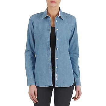 Textiel Dames Overhemden Kulte CHEMISE CIRCUIT 101826 BLEACH Blauw