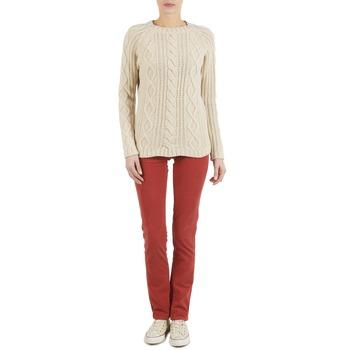 Textiel Dames 5 zakken broeken Kulte PANTALON PLANCHER 101819 ROUGE Rood