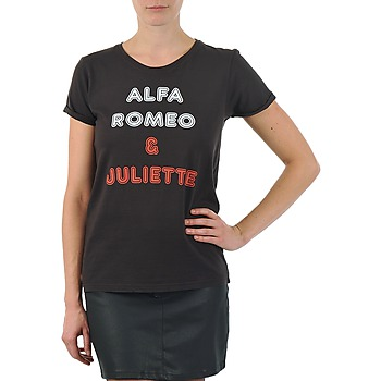 Textiel Dames T-shirts korte mouwen Kulte LOUISA ROMEO 101950 NOIR Zwart