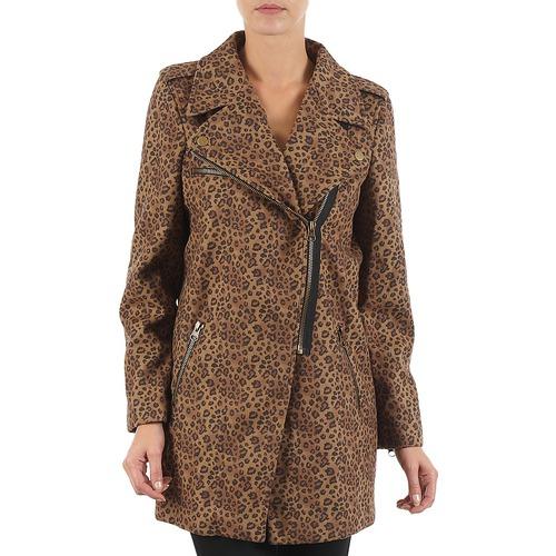 Textiel Dames Mantel jassen Brigitte Bardot BB43110 Bruin / Luipaard
