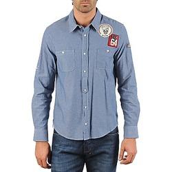Textiel Heren Overhemden lange mouwen Mr Marcel NEBRASKA Blauw