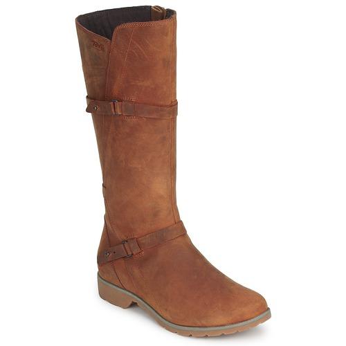 Schoenen Dames Hoge laarzen Teva DELAVINA LEATHER Bruin