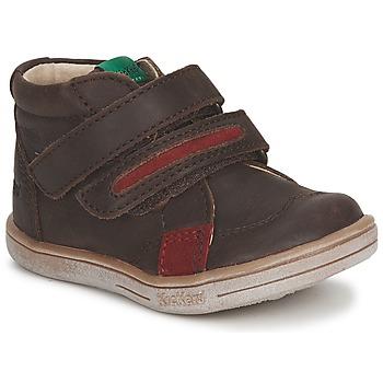 Schoenen Jongens Laarzen Kickers TAXI Bruin / Rood