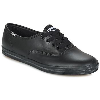 Schoenen Dames Lage sneakers Keds CHAMPION LEATHER Zwart