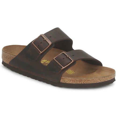 Schoenen Heren Leren slippers Birkenstock MENS ARIZONA Havana