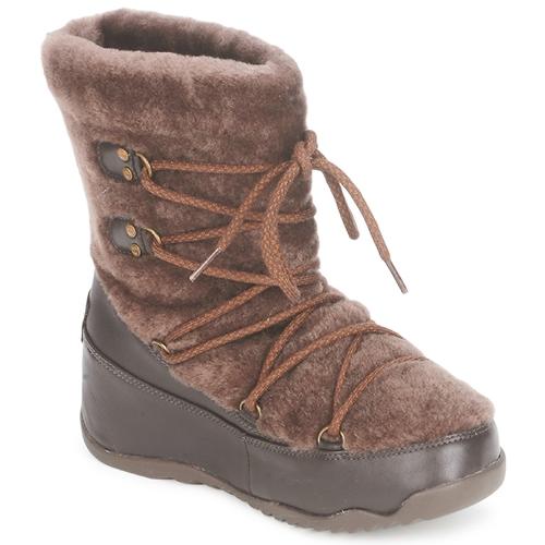 Schoenen Dames Snowboots FitFlop SUPERBLIZZ Chocolat