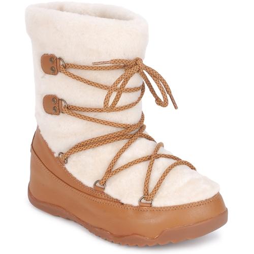 Schoenen Dames Snowboots FitFlop SUPERBLZZ Beige / Bruin