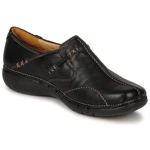 Schoenen Dames Derby Clarks UN LOOP Zwart