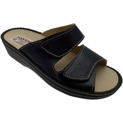 Schoenen Heren Leren slippers Davema DAV198b blu