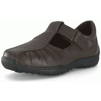 Schoenen Heren Derby Calzamedi VOOR DIABETIC MAN. COMFORTABEL EN BREED MARRON