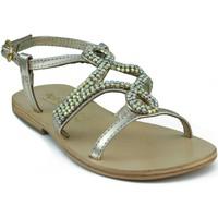 Schoenen Kinderen Sandalen / Open schoenen Oca Loca OCA LOCA  METALIZADA ADORNO STRASS ORO ORO
