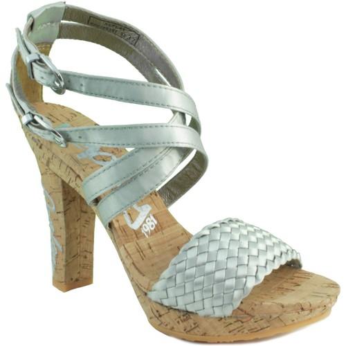 Schoenen Dames Sandalen / Open schoenen Replay ELSA SILVER PLATA
