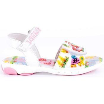 Schoenen Meisjes Sandalen / Open schoenen Lelli Kelly LELLI KELLY ELEPHANT Y JIRAFFE 2 BLANCO