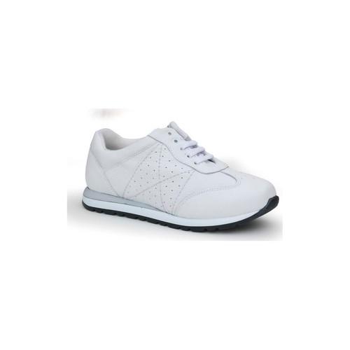 Schoenen Dames Lage sneakers Calzamedi SCHOENEN  SPORT WITTE COMFORTABELE EN BREDE VROUWEN BLANCO
