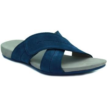 Schoenen Dames Leren slippers Lottusse DELAVE TEX COBA MARINO