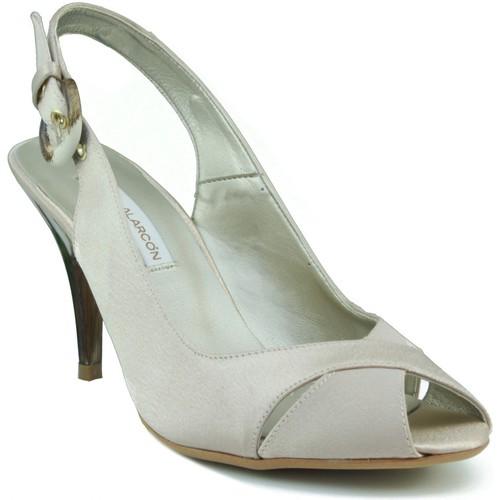 Schoenen Dames Sandalen / Open schoenen Angel Alarcon DE FIESTA BEIGE