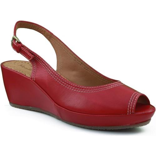 Schoenen Dames Sandalen / Open schoenen Montesinos CON CUÑA MUY Y ROJO