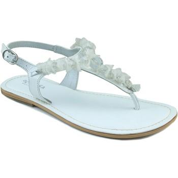 Schoenen Meisjes Sandalen / Open schoenen Oca Loca OCA LOCA ESCLAVA NAPA BOLAS BLANCO