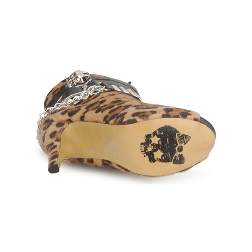 Abbey Dawn PLATFORM BOOTEE Luipaard / Print - Gratis levering  Schoenen Enkellaarzen Dames