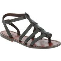 Schoenen Heren Sandalen / Open schoenen Gianluca - L'artigiano Del Cuoio 505 D MORO CUOIO Testa di Moro