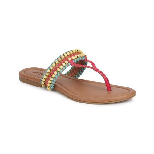 Schoenen Dames Sandalen / Open schoenen Lucky Brand DOLLIS Camel / Capri / Blauw