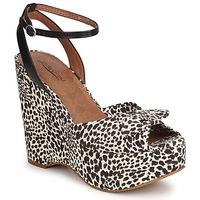 Schoenen Dames Sandalen / Open schoenen Lucky Brand VIERA Zwart / Wit