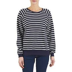 Textiel Dames Sweaters / Sweatshirts Petit Bateau CARILLON Marine / Wit