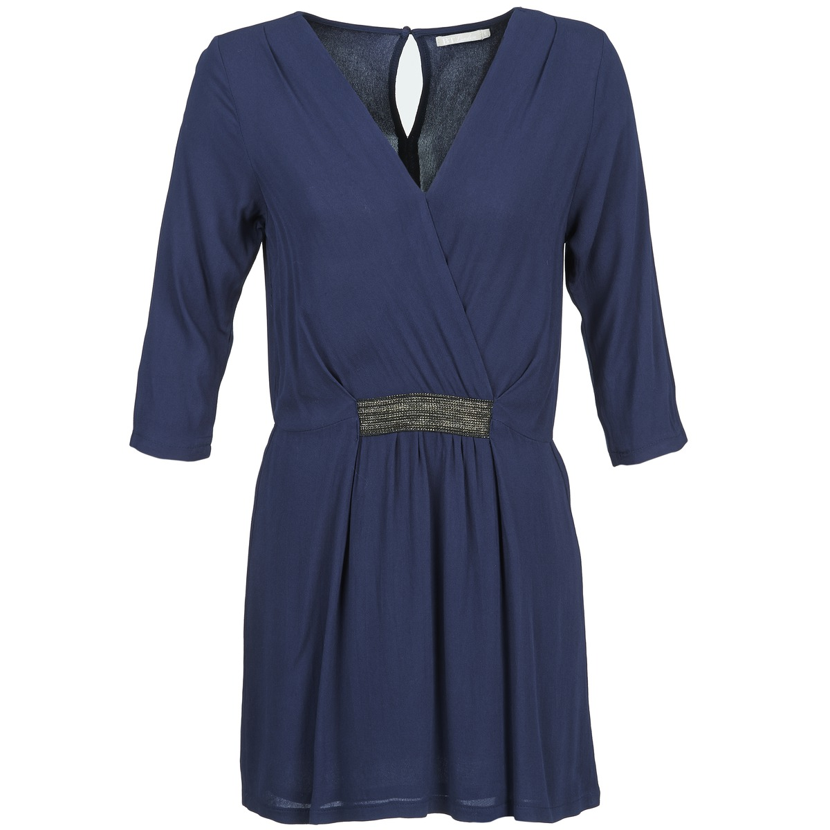 Betty London korte jurk dusty blauw
