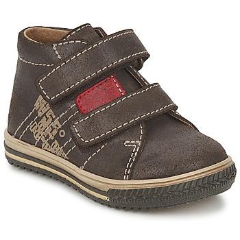 Schoenen Jongens Hoge sneakers Citrouille et Compagnie ESCLO Bruin / Rood