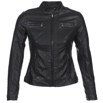 Textiel Dames Leren jas / kunstleren jas Moony Mood DUIR Zwart