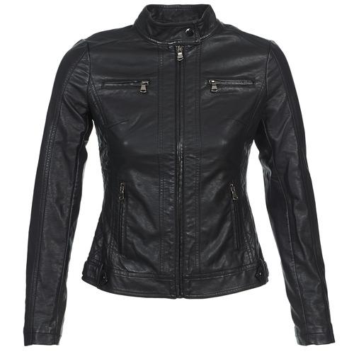 Textiel Dames Leren jas / kunstleren jas Moony Mood IDESCUNE Zwart