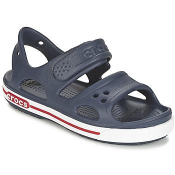 Schoenen Jongens Sandalen / Open schoenen Crocs CROCBAND II SANDAL PS Marine / Wit
