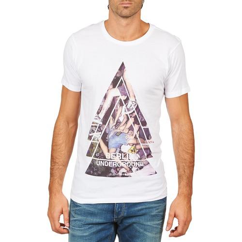 Textiel Heren T-shirts korte mouwen Eleven Paris BERLIN M MEN Wit