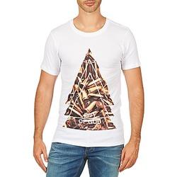 Textiel Heren T-shirts korte mouwen Eleven Paris CITYGOD M MEN Wit