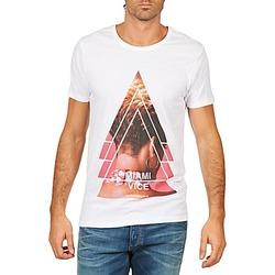 Textiel Heren T-shirts korte mouwen Eleven Paris MIAMI M MEN Wit
