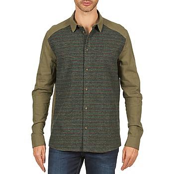 Textiel Heren Overhemden lange mouwen Eleven Paris VRAPP MEN Kaki