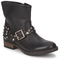 Schoenen Dames Laarzen Pieces ISADORA LEATHER BOOT Zwart