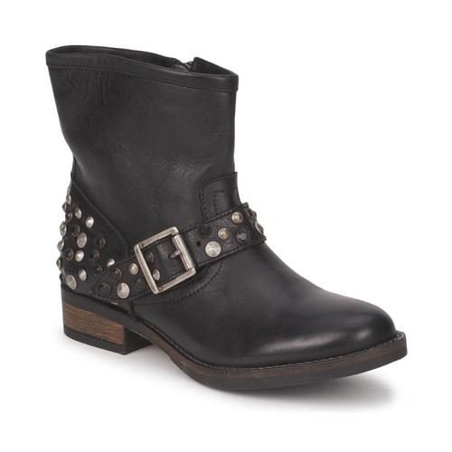 Schoenen Dames Laarzen Pieces ISADORA LEATHER BOOT Zwart