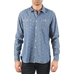 Textiel Heren Overhemden lange mouwen Barbour LAWSON Blauw